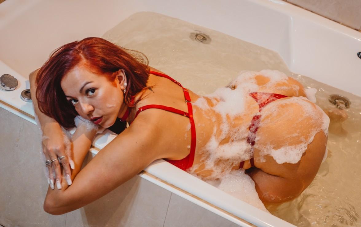 una ducha ardiente